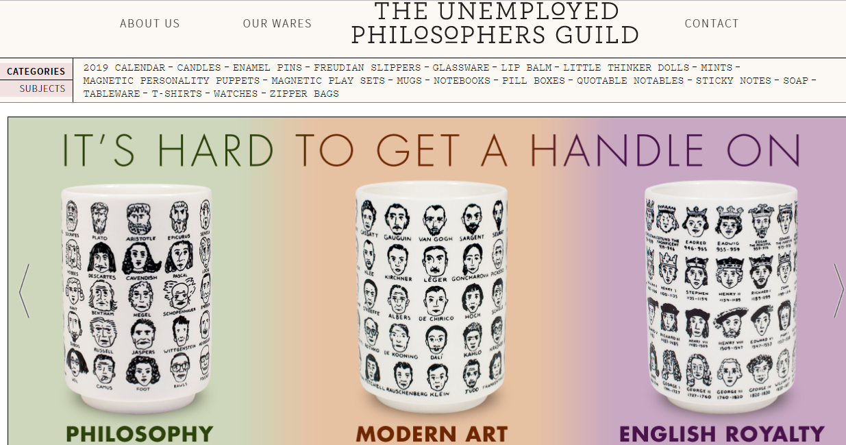 The Unemployed Philosophers Guild Coupons