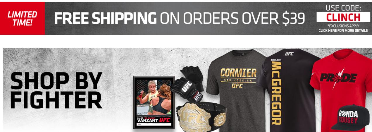 UFC Store Coupons